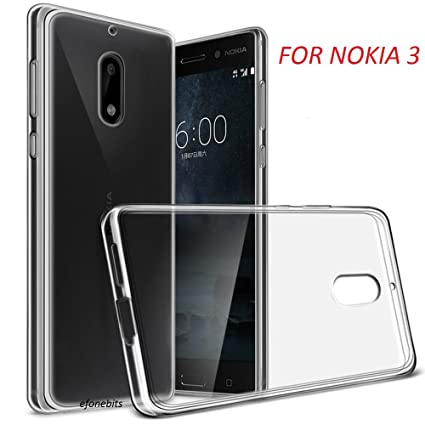 new york 43b58 33eb7 Efonebits Crystal Clear Hot Transparent Soft Silicone Back Case Cover for  Nokia 3