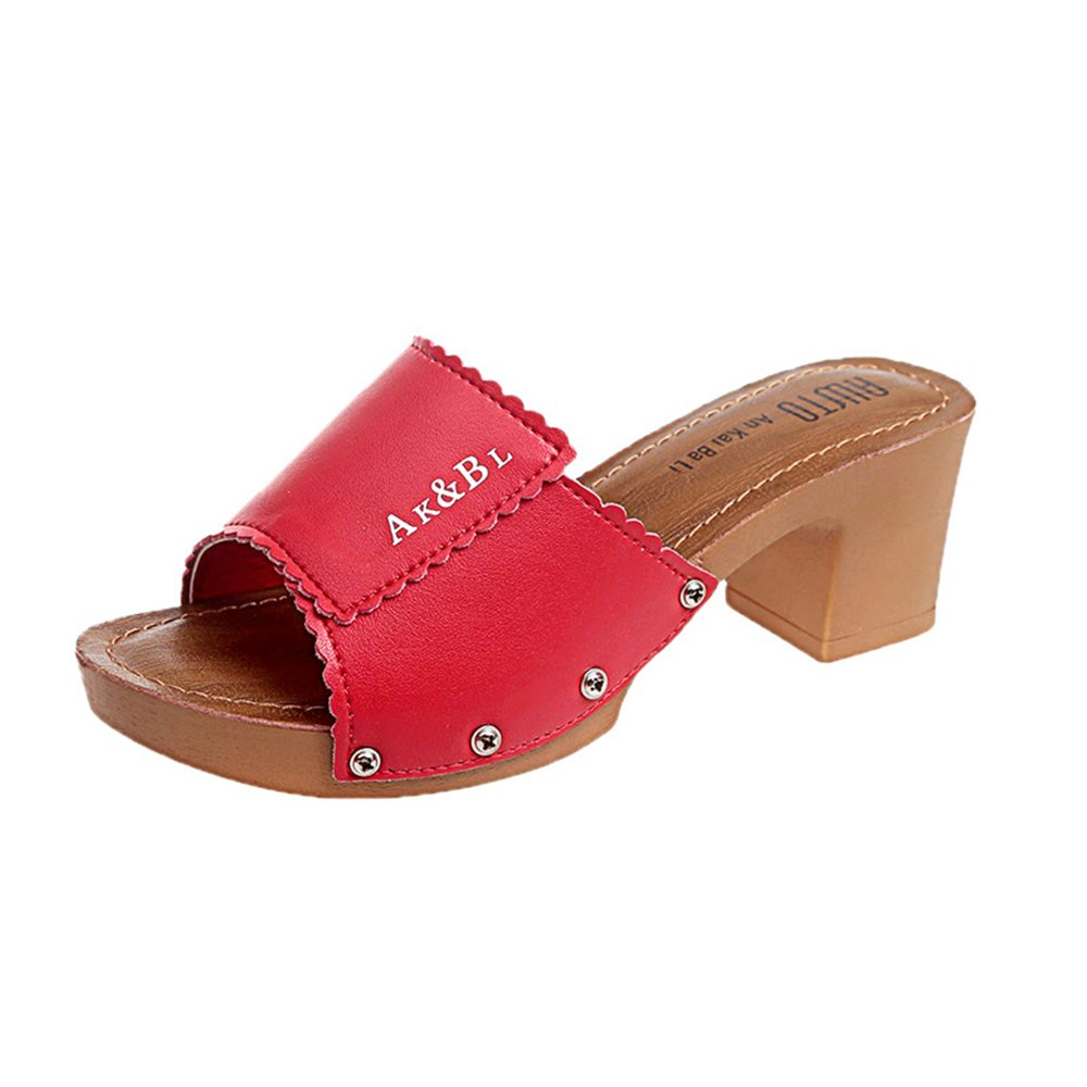 Cloudless Women Fashion Summer Slope Sandals Loafers Shoes High Platform Wedge Sandal B07DHF8RFK 35/4.5 B(M) US Women|Red