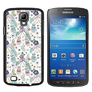 KLONGSHOP // Cubierta de piel con cierre a presión Shell trasero duro de goma Protección Caso - Vacaciones de Navidad mitones navidad verde azulado - Samsung Galaxy S4 Active i9295 //