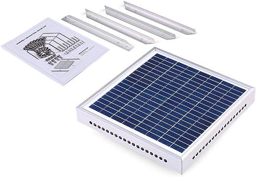 Ventilador solar para invernadero, ventilador de ventilación solar ...