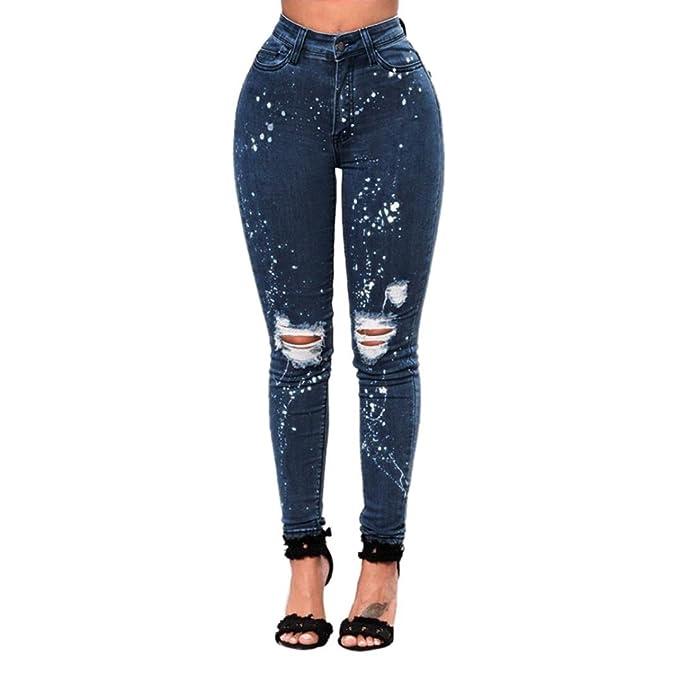 Jeans Hosen Damen Skinny Jeans Workout Hose Boyfriend Röhrenjeans Jeans  leggings Hose Denim Jeans Hose Frauen Outdoor Slim Patchwork Hose  Bleistifthose ... 0ab63f3198