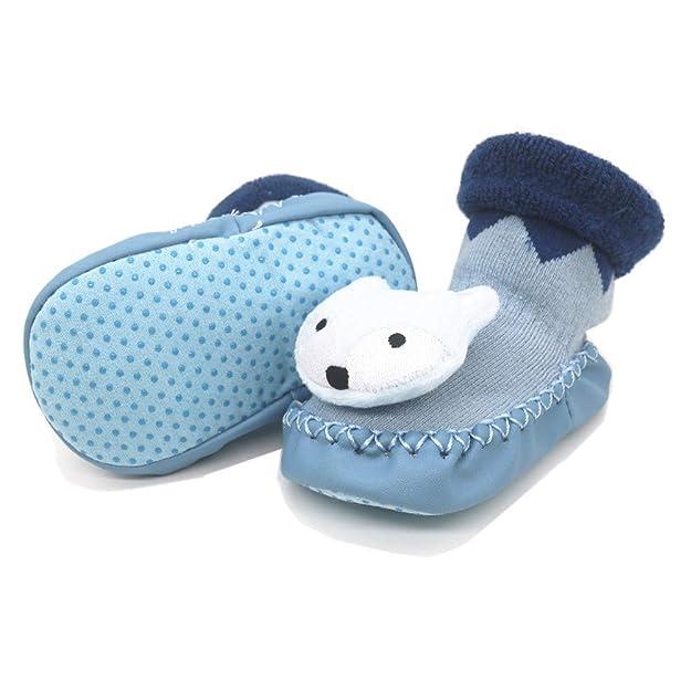 Amazon.com | PanGa Baby Boys Girls Non-Slip Moccasins Slippers Infants Toddlers Newbron Premium Soft Sole Winter Warm Indoor Socks Shoes | Slippers