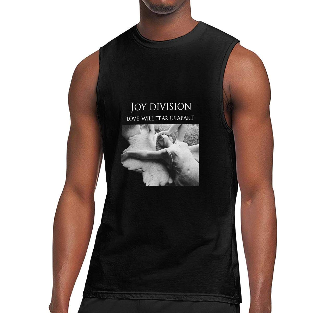 S Sleeveless T Shirts Joy Division Love Will Tear Us Apart Workout Tank Tops Gym Bodybuilding Tshirts Black