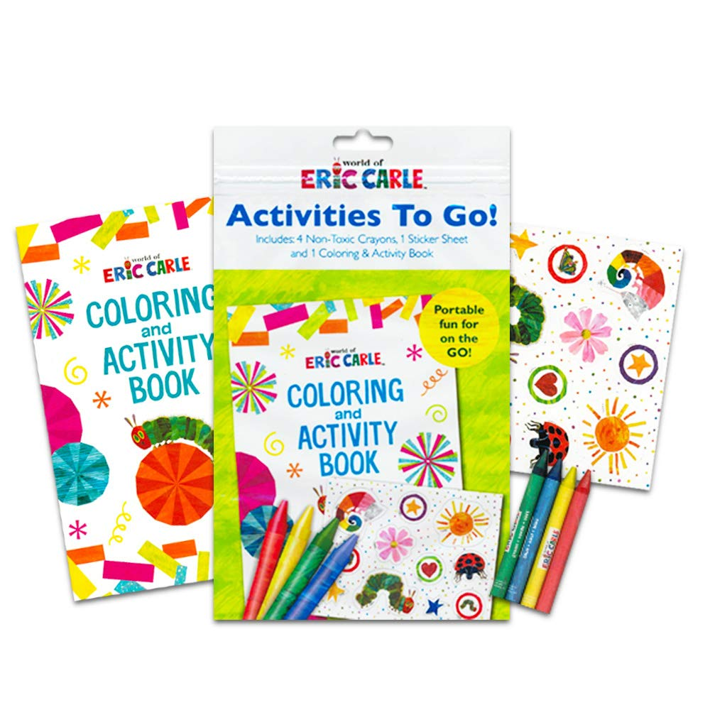 World of Eric Carle School Supplies Eric Carle The Very Hungry Caterpillar Lunch Bag Bundle with Grip Crayons Coloring Book and Stickers