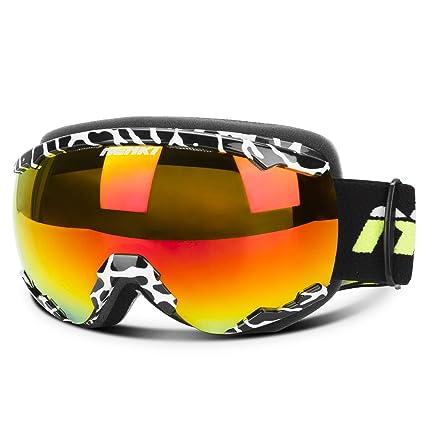 1c5f7887e96f NENKI Ski Snowboard Snow Snowmobile Goggles with Anti Fog   100% UV  Protection Dual Layer