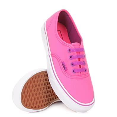 Womens Vans Authentic Neon Pink Purple Canvas Shoe SIZE 3  Amazon.co.uk   Shoes   Bags a42f496bfe