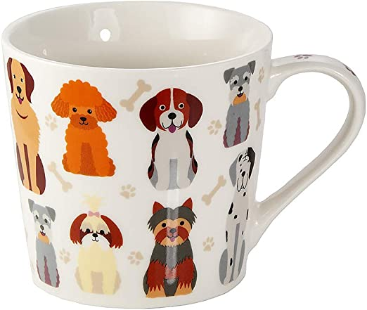 Kaffeebecher Kaffeetasse Tasse Hund Familie Porzellan
