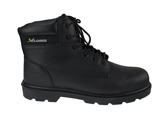 Xplorer Mens Safety Boots Waterproof Leather w/Composite Toe Cap, Waterproof, Puncture Resistant Midsole, For Construction, Road Workers, Bikers (Botas de ...