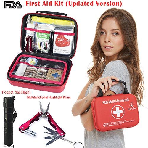 Waterproof First Aid Kit Bag Red - 6