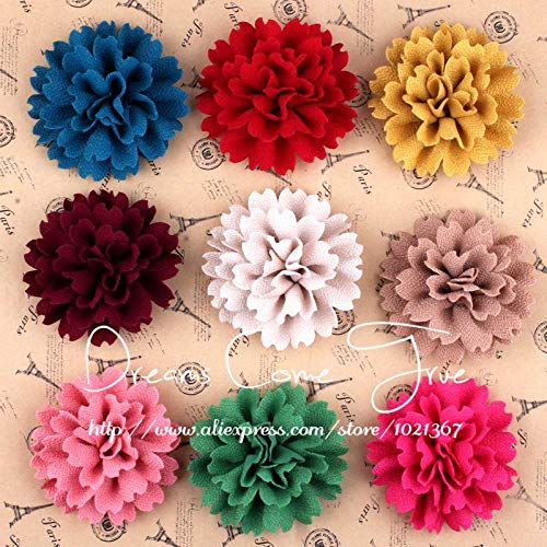 Decorations 200pcs/lot 9CM 9Color Fashion Fabric Hair Flowers with Children Hair Accessories Artificial Headband Flower for Baby Headwear by Unknown