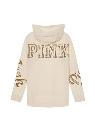 8cde4cdcbb331 Victoria's Secret Pink Bling Campus Pullover Hoodie, Winter White ...