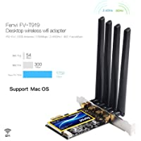 MQUPIN fenvi T919 Wireless Card, BCM94360CD Desktop 5G Computer WiFi Card,Bluetooth 4.0 Dual-Band Gigabit PCIE Wireless Network Card, NO Driver Needed for macOS