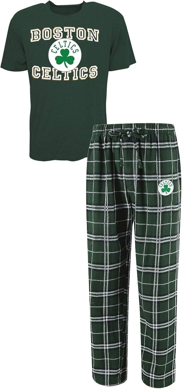 Amazon Com Concepts Sport Boston Celtics Nba Great Duo Men S T Shirt Flannel Pajama Sleep Set Clothing