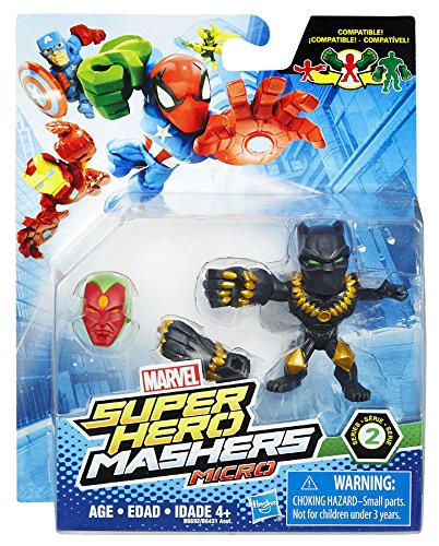 """Marvel Super Hero Mashers Micro Series 2 Black Panther 2"""" Action Figure"""