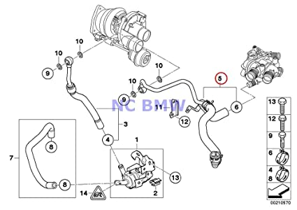 Amazon Com Bmw Mini Genuine Turbocharger Coolant Hose