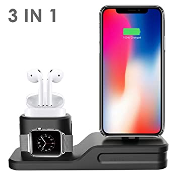 Soporte De Cargador 3 en 1 para iPhone AirPods Apple iWatch ...