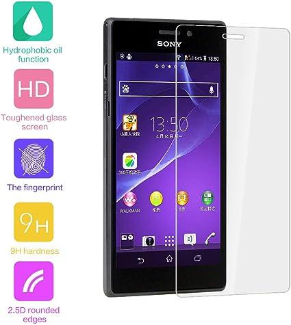 Sony Xperia M2 Aqua Fenrad/S50h cristal transparente Protector de ...