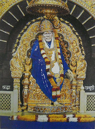 Shirdi Sai baba Poster with Glitter-reprint on paper