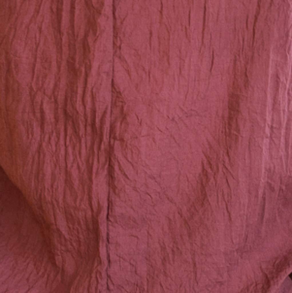 Mens Linen Shirts Tronet Mens New Summer Casual Short-Sleeved Shirt Fashion Cotton Linen Blouse Top