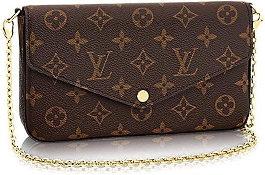 Amazon Com Louis Vuitton Monogram Canvas Felicie Chain Wallet M61276
