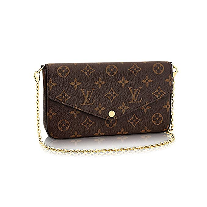 1b133a5b8d24 Louis Vuitton Monogram Canvas Felicie Chain Wallet M61276 at Amazon Women s  Clothing store