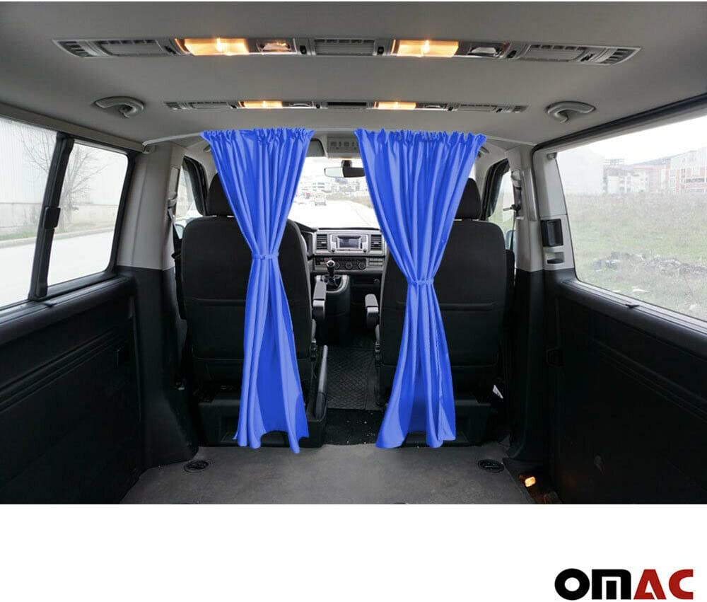 Omac Sonnenschutz Gardinen Für Transporter T6 2015 2019 Dunkel Blau Auto