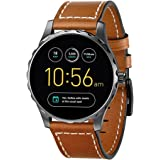 Kartice for Fossil Q Marshal Gen 2 Band, 22MM Fossil Q Explorist Gen 3 Bands Leather Band with Stainless Steel Buckle for Fossil Q Marshal Gen 2&Gen 3 Q Explorist Smart Watch(brown 22mm)