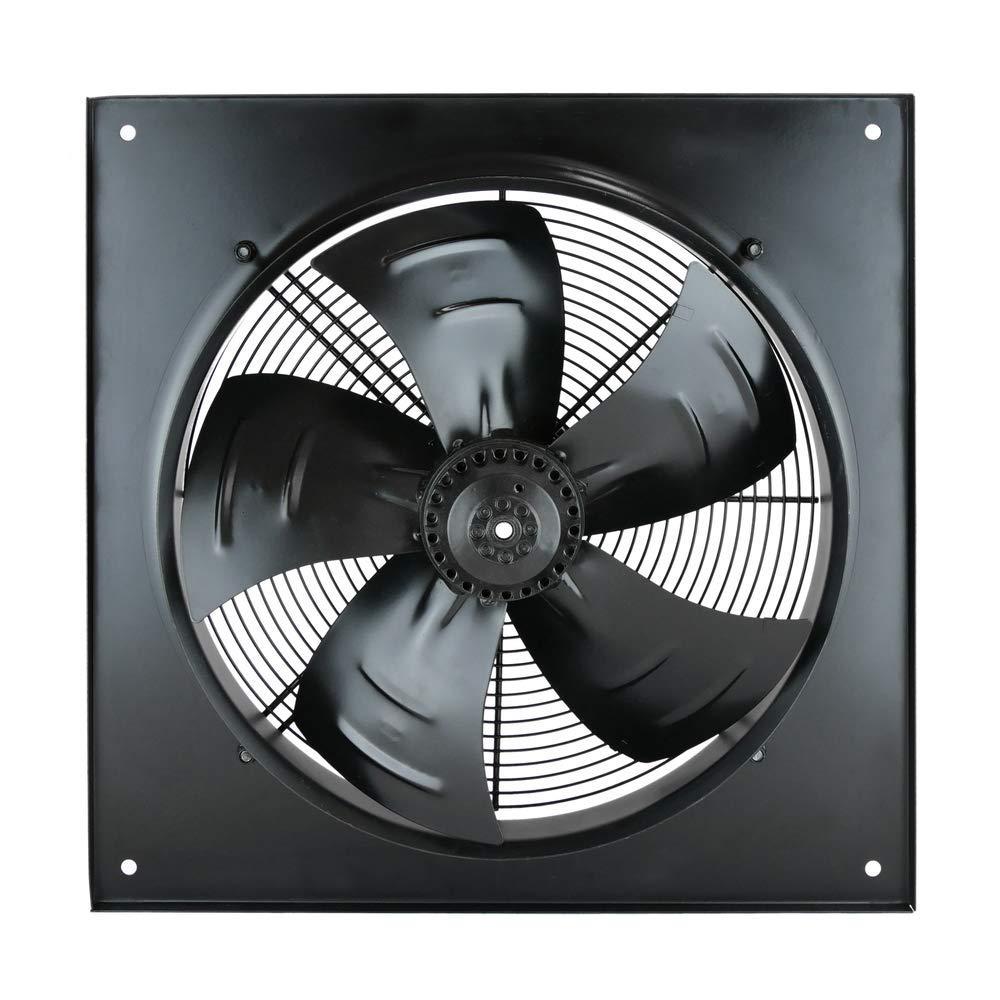 PrimeMatik Extractor de Aire de Pared de 400 mm para ventilaci/ón Industrial 1360 RPM Cuadrado 540x540x80 mm