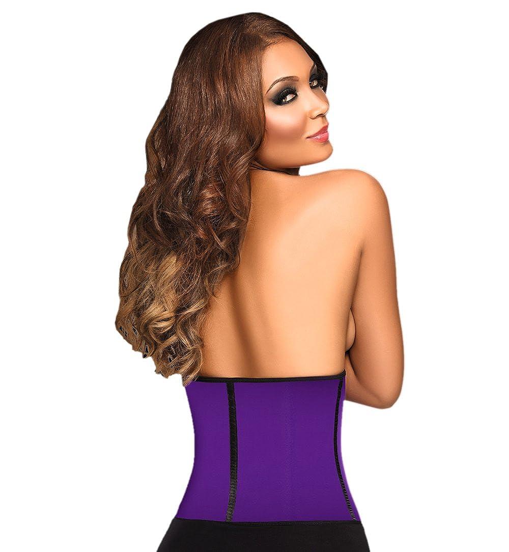 Ann Chery Womens Faja Deportiva Workout Waist Cincher, Purple, 2X-Large/40 at Amazon Womens Clothing store: