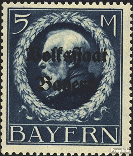 Bavaria 131I A A, peace print 1919 King Ludwig with Print (Stamps for collectors)