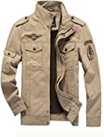 MatchLife Homme Nouveau Militaire Style Automne Veste Manteau