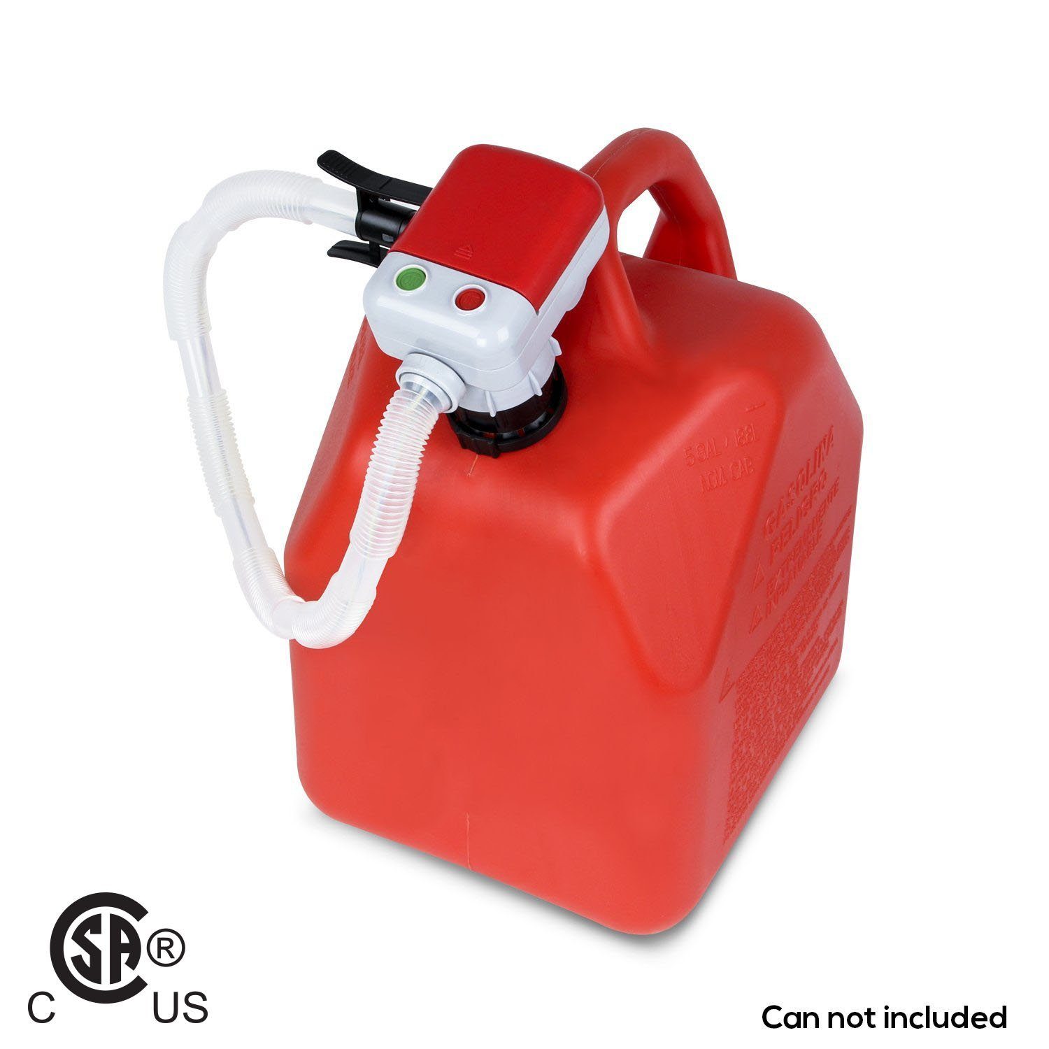No More Heavy Gas Can Lifting/Fuel Transfer Pump Fitting Any Gas Cans (Advanced Auto-Stop Funtion and Flexible In and Out Take Hose) TeraPump A-TRFA01-V3-001