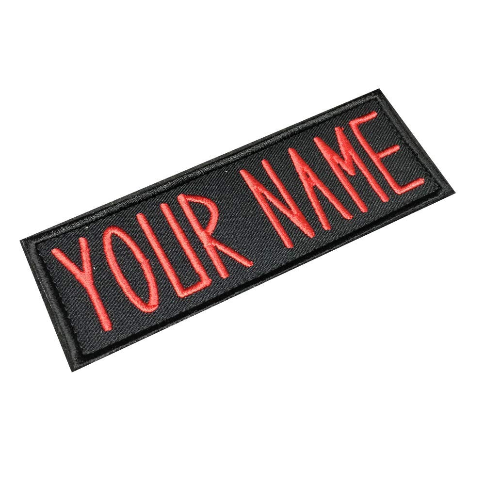Personalized Custom Ghostbusters NAME TAG Embroidered PATCHES / 1.75Hx5W By Lanstang (IRON ON, RED) NT-GHOSTBT-CTRED
