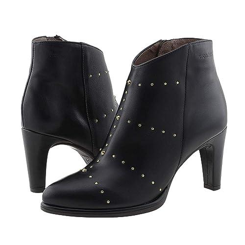 2991e5e826ae9 Botines Piel M-2626 Wonders Talla  40 Color  Negro  Amazon.es  Zapatos y  complementos