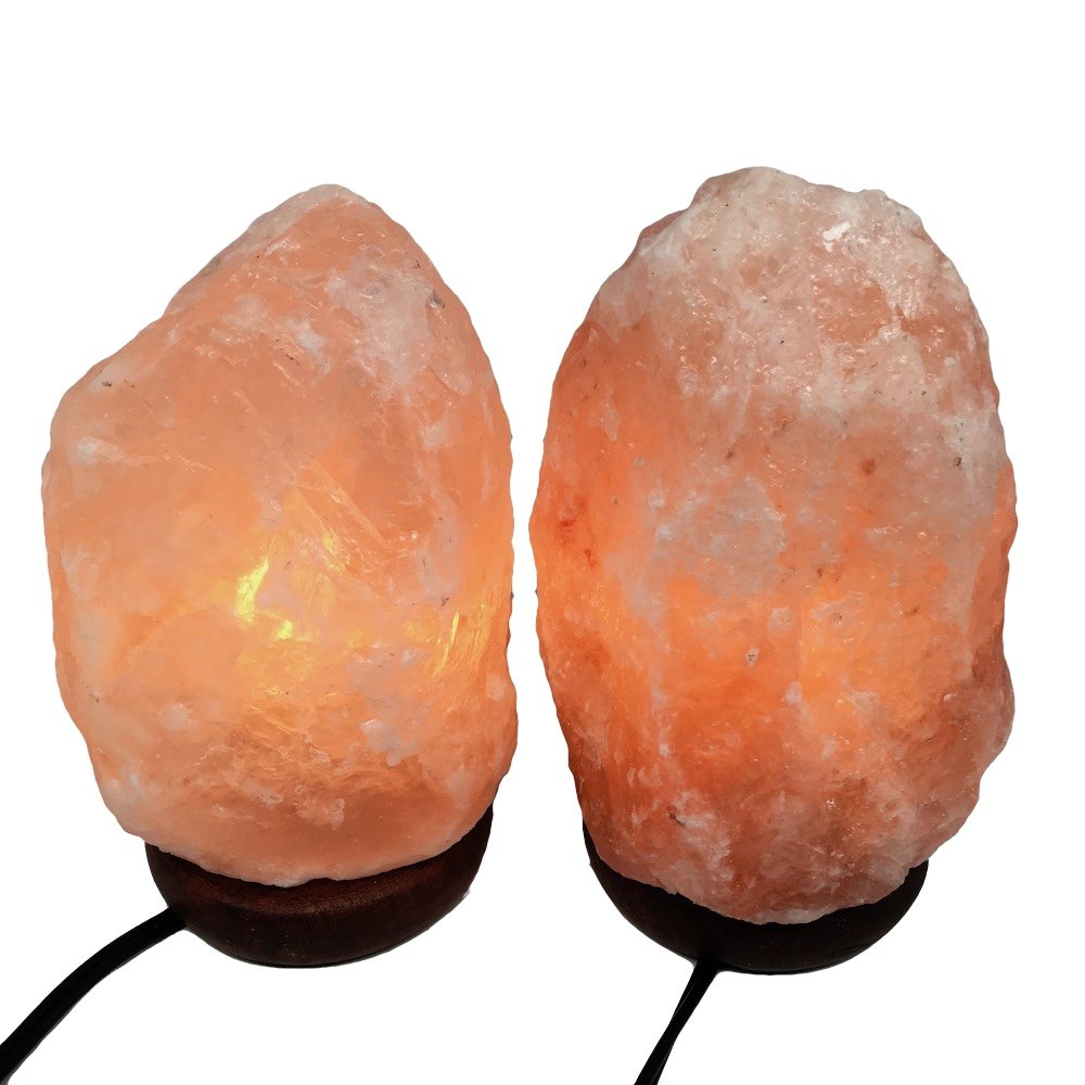 2x Himalaya Natural Handcraft Rough Raw Crystal Salt Lamp 7.5''-8''Tall, X086, Exact Item will be Delivered