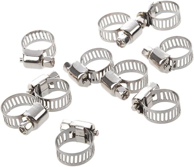 TOOGOO R 5 x 9-16mm Collier de serrage reglable a vis sans fin en acier inoxydable