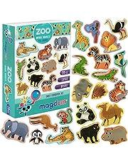 MAGDUM Kylskåpsmagneter för barn zoo – 20 stora kylskåpsmagneter – magneter för barn – magneter för kylskåp – kylskåpsmagneter för småbarn – stor magnet – djurspel – kylskåpsmagneter för barn – leksaksmagneter