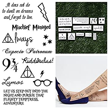 e0b75eed0 Image Unavailable. Image not available for. Color: Tattify Harry Potter Temporary  Tattoos ...