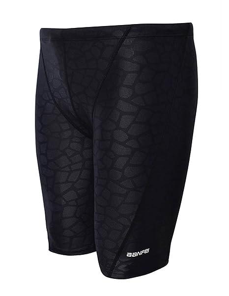 81ab5376a6 Easea Men`s Rapid Swim Splice Quick Dry Jammer Swimsuit Black Prints X-Large
