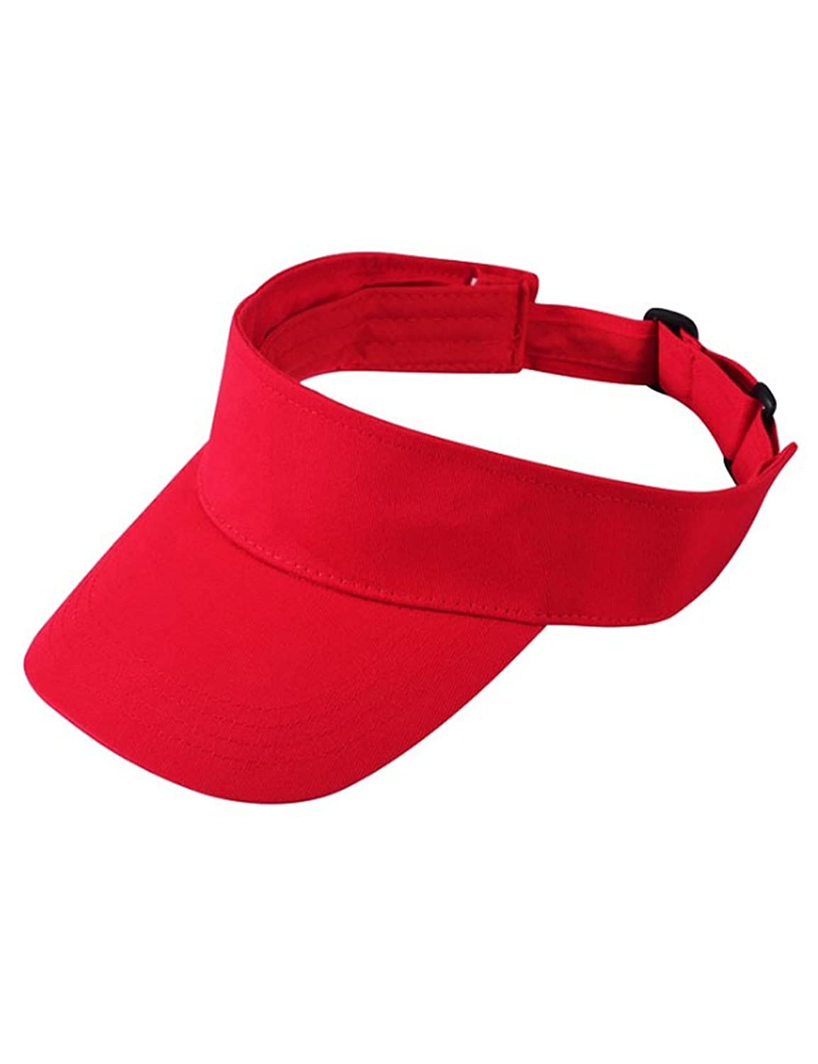 Bestgift Womens Mens Solid Colour Cotton Fashion Sports Hat Ajustable Sun Visors BSGFWJ0269-1F