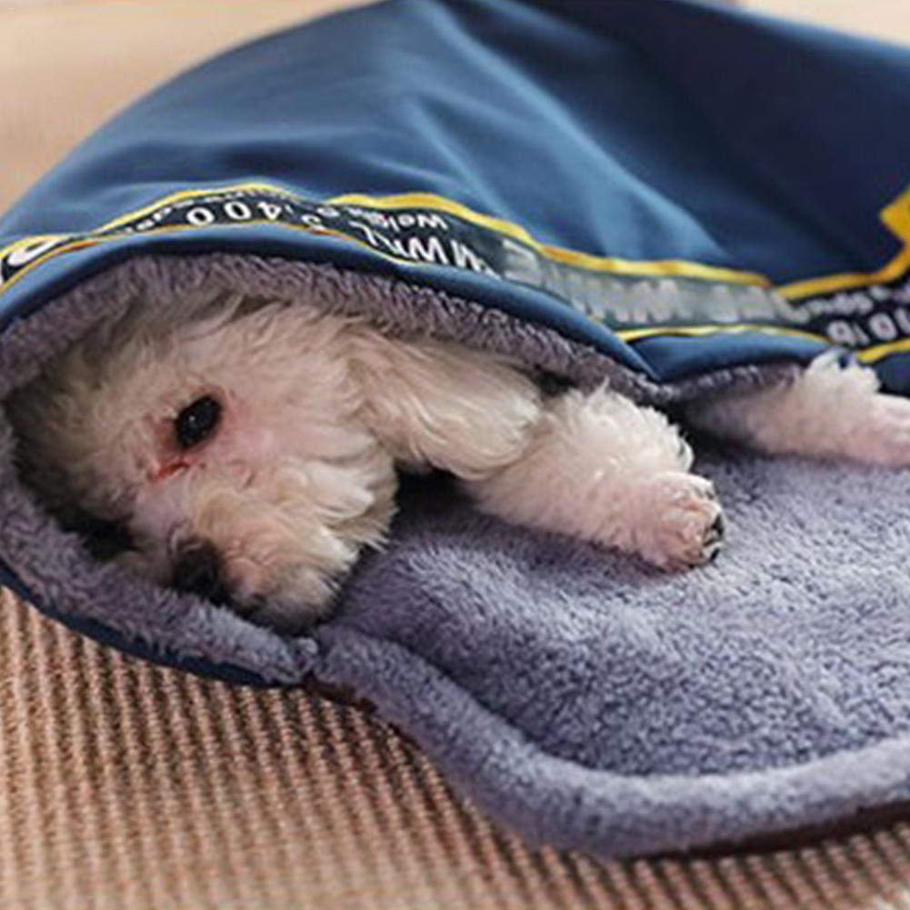 farmer-W C/álido Suave Cama para Mascotas Saco de Dormir para Mascotas Mascota Felpa Nido Cueva Peque/ños Gatos Medianos y Grandes Perros Mascotas Cama Port/átil 2 en 1