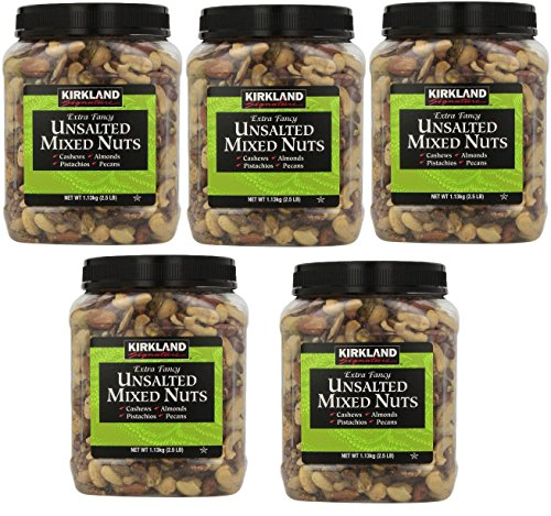 Price comparison product image Kirkland Signature Extra Fancy Unsalted Mixed Nuts,  5 Jars (2.5 LB)