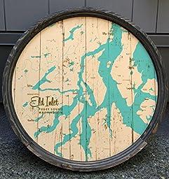 Eld Inlet Map Barrel End Sign
