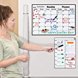 Homein Magnetic Dry Erase Calendar for Refrigerator 2 Pack 2020-2021 Monthly and Weekly Planner Fridge Calendars Kitchen Orga