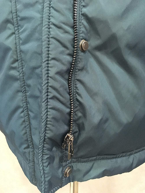 STY-YL Manteau Femme, Col en Fourrure De Raton Laveur émaillé épais Et Moelleux, Doudoune Mi-Longue Taille Plus Femme 90% Duvet De Canard Blanc Dark Green