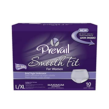 Prevail Maximum Absorbency Smooth Fit Incontinence Underwear for Women, Large/Extra Large, 10