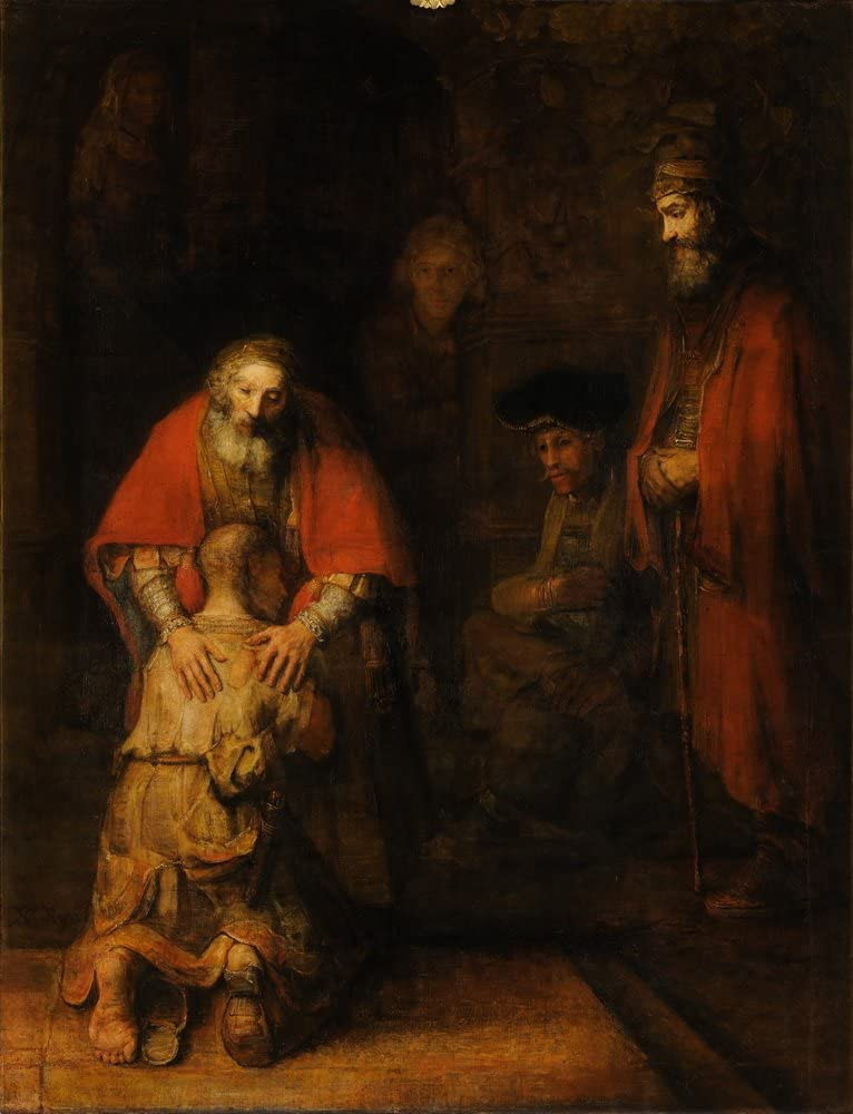Berkin Arts Rembrandt Harmenszoon Van Rijn Giclee Print On Canvas-Famous Paintings Fine Art Poster-Reproduction Wall Decor(The Return The Prodigal Son) Large Size 24 x 31.4inches