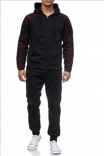 Boxusa - Chándal - para Hombre Negro Rojo XL: Amazon.es: Ropa y ...