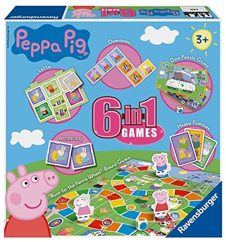 Ravensburger Peppa Pig, 6 in 1 Games