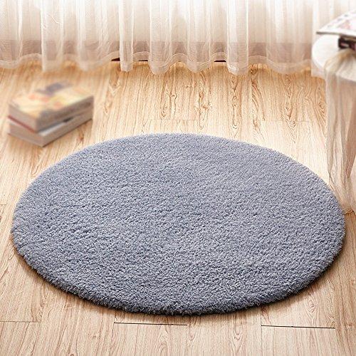Alfombra redonda gris / colchón de alfombra gruesa / silla de la computadora silla silla canasta estera del elevador /...